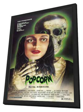 Popcorn - 11 x 17 Movie Poster - Style A - in Deluxe Wood Frame