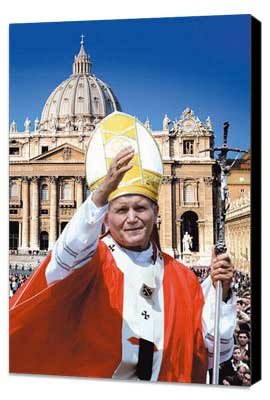 Pope John Paul II: Builder of Bridges - 11 x 17 Movie Poster - Style A - Museum Wrapped Canvas