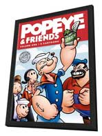 Popeye and Friends - 11 x 17 Movie Poster - Style A - in Deluxe Wood Frame
