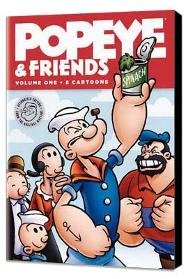Popeye and Friends - 11 x 17 Movie Poster - Style A - Museum Wrapped Canvas