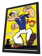 Popeye - 11 x 17 Movie Poster - Style A - in Deluxe Wood Frame