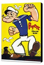 Popeye - 11 x 17 Movie Poster - Style A - Museum Wrapped Canvas