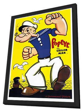 Popeye - 27 x 40 Movie Poster - Style A - in Deluxe Wood Frame