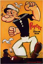 Popeye the Sailor Man - 11 x 17 Movie Poster - Style B