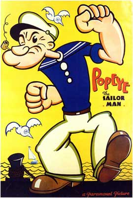 Popeye the Sailor Man - 27 x 40 Movie Poster - Style A