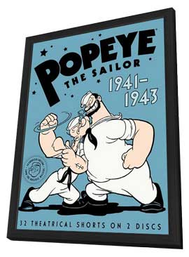 Popeye the Sailor Man - 11 x 17 Movie Poster - Style C - in Deluxe Wood Frame