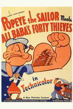 Popeye the Sailor Meets Ali Baba and the Forty Thieves - 27 x 40 Movie Poster - Style B