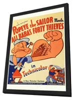 Popeye the Sailor Meets Ali Baba and the Forty Thieves - 27 x 40 Movie Poster - Style B - in Deluxe Wood Frame