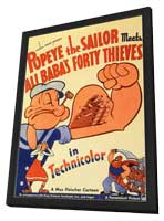 Popeye the Sailor Meets Ali Baba and the Forty Thieves - 11 x 17 Movie Poster - Style B - in Deluxe Wood Frame