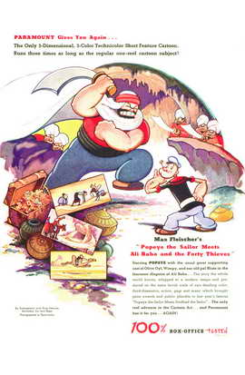 Popeye the Sailor Meets Ali Baba and the Forty Thieves - 11 x 17 Movie Poster - Style A