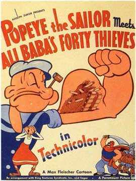 Popeye the Sailor Meets Ali Baba and the Forty Thieves - 11 x 17 Movie Poster - Style B