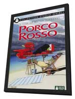 Porco Rosso - 11 x 17 Movie Poster - French Style A - in Deluxe Wood Frame