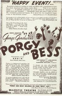 Porgy And Bess (Broadway) - 14 x 22 Poster - Style B