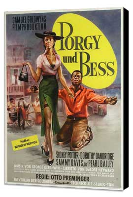 Porgy & Bess - 11 x 17 Movie Poster - German Style A - Museum Wrapped Canvas