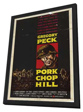 Pork Chop Hill - 11 x 17 Movie Poster - Style A - in Deluxe Wood Frame