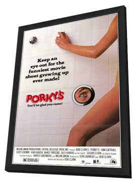 Porky's - 27 x 40 Movie Poster - Style A - in Deluxe Wood Frame