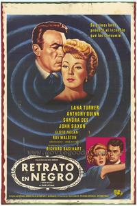 Portrait in Black - 11 x 17 Movie Poster - Italian Style C