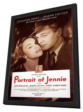 Portrait of Jennie - 11 x 17 Movie Poster - Style A - in Deluxe Wood Frame