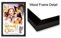 Poster Frames - 27'' x 40'' Deluxe Black Wood Frame