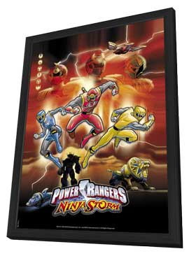 Power Rangers Ninja Storm - 11 x 17 Movie Poster - Style A - in Deluxe Wood Frame