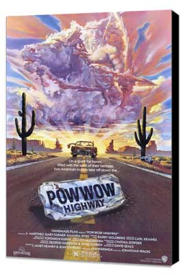 Powwow Highway - 27 x 40 Movie Poster - Style A - Museum Wrapped Canvas