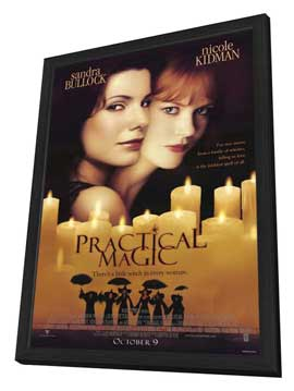 Practical Magic - 11 x 17 Movie Poster - Style A - in Deluxe Wood Frame