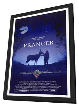 Prancer - 27 x 40 Movie Poster - Style A - in Deluxe Wood Frame