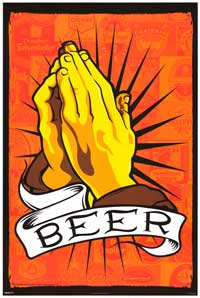 Pray for Beer - Party/College Poster - 24 x 36 - Style A
