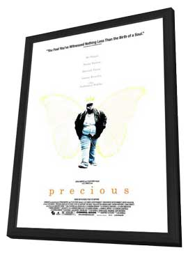 Precious: Based on the Novel Push by Sapphire - 11 x 17 Movie Poster - Style C - in Deluxe Wood Frame