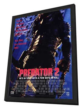 Predator 2 - 27 x 40 Movie Poster - Style A - in Deluxe Wood Frame