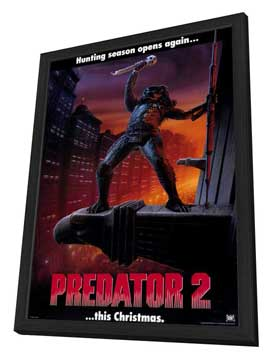 Predator 2 - 27 x 40 Movie Poster - Style B - in Deluxe Wood Frame