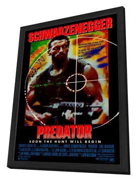 Predator - 27 x 40 Movie Poster - Style A - in Deluxe Wood Frame