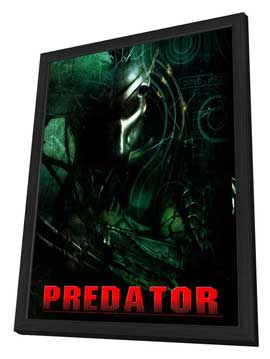 Predator - 27 x 40 Movie Poster - Style B - in Deluxe Wood Frame
