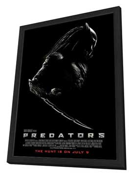 Predators - 27 x 40 Movie Poster - Style C - in Deluxe Wood Frame