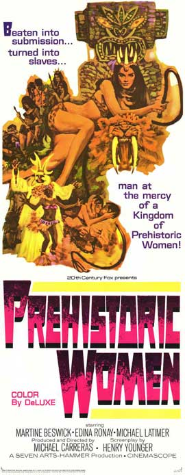Prehistoric Women - 27 x 40 Movie Poster - Style B