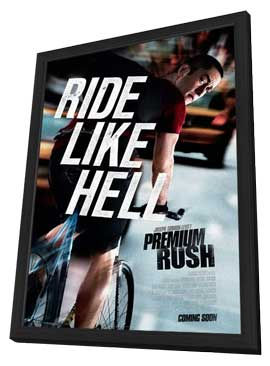 Premium Rush - 27 x 40 Movie Poster - Style A - in Deluxe Wood Frame