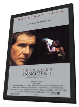 Presumed Innocent - 11 x 17 Movie Poster - Style A - in Deluxe Wood Frame