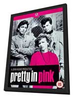 Pretty in Pink - 11 x 17 Movie Poster - Style B - in Deluxe Wood Frame