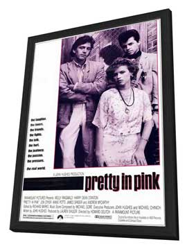 Pretty in Pink - 11 x 17 Movie Poster - Style A - in Deluxe Wood Frame
