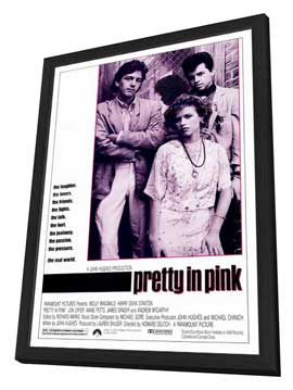 Pretty in Pink - 27 x 40 Movie Poster - Style A - in Deluxe Wood Frame
