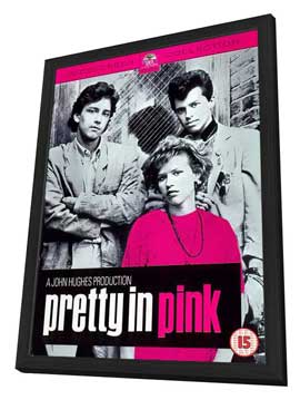 Pretty in Pink - 27 x 40 Movie Poster - Style B - in Deluxe Wood Frame