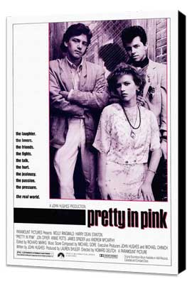 Pretty in Pink - 27 x 40 Movie Poster - Style A - Museum Wrapped Canvas