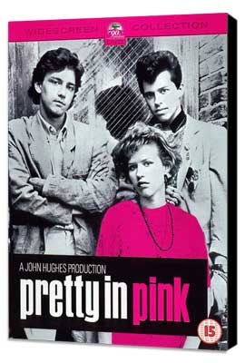Pretty in Pink - 27 x 40 Movie Poster - Style B - Museum Wrapped Canvas