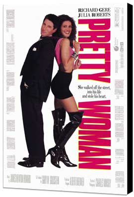 Pretty Woman - 11 x 17 Movie Poster - Style B - Museum Wrapped Canvas