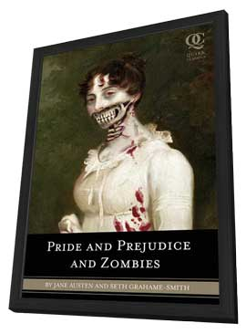 Pride and Prejudice and Zombies - 11 x 17 Movie Poster - Style A - in Deluxe Wood Frame