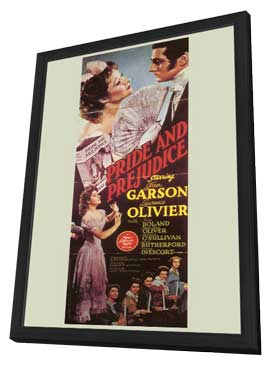 Pride and Prejudice - 11 x 17 Movie Poster - Style C - in Deluxe Wood Frame