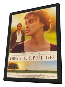 Pride & Prejudice - 11 x 17 Movie Poster - French Style A - in Deluxe Wood Frame