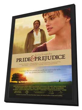 Pride & Prejudice - 27 x 40 Movie Poster - Style A - in Deluxe Wood Frame
