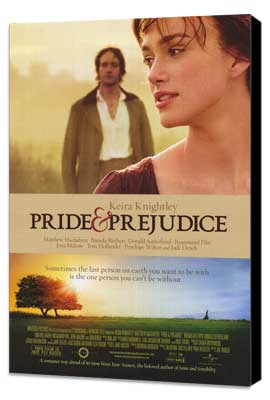 Pride & Prejudice - 11 x 17 Movie Poster - Style A - Museum Wrapped Canvas