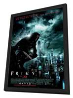 Priest - 11 x 17 Movie Poster - Style H - in Deluxe Wood Frame